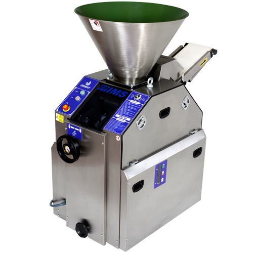 Volumetric dough divider machine processes the mos